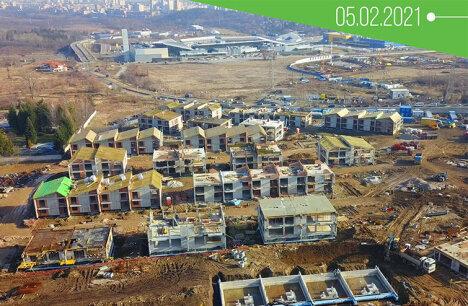 Строежът на River Park през февруари